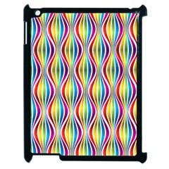Rainbow Waves Apple iPad 2 Case (Black)