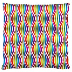 Rainbow Waves Large Cushion Case (Single Sided)