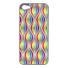 Rainbow Waves Apple iPhone 5 Case (Silver)