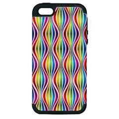 Rainbow Waves Apple Iphone 5 Hardshell Case (pc+silicone)