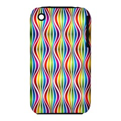 Rainbow Waves Apple iPhone 3G/3GS Hardshell Case (PC+Silicone)