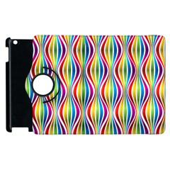 Rainbow Waves Apple iPad 3/4 Flip 360 Case