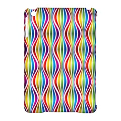 Rainbow Waves Apple iPad Mini Hardshell Case (Compatible with Smart Cover)