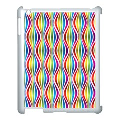 Rainbow Waves Apple iPad 3/4 Case (White)