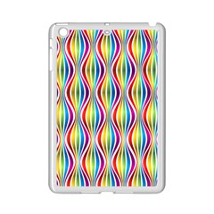 Rainbow Waves Apple iPad Mini 2 Case (White)