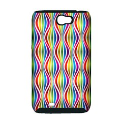 Rainbow Waves Samsung Galaxy Note 2 Hardshell Case (PC+Silicone)