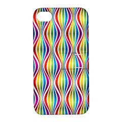Rainbow Waves Apple Iphone 4/4s Hardshell Case With Stand
