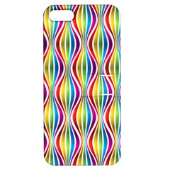 Rainbow Waves Apple iPhone 5 Hardshell Case with Stand
