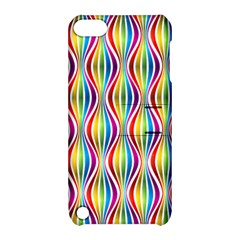 Rainbow Waves Apple Ipod Touch 5 Hardshell Case With Stand