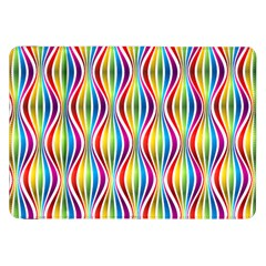 Rainbow Waves Samsung Galaxy Tab 8 9  P7300 Flip Case