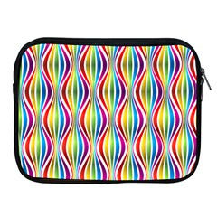 Rainbow Waves Apple iPad Zippered Sleeve