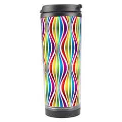 Rainbow Waves Travel Tumbler