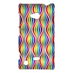 Rainbow Waves Nokia Lumia 720 Hardshell Case
