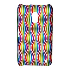 Rainbow Waves Nokia Lumia 620 Hardshell Case