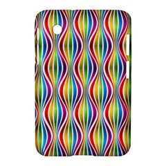 Rainbow Waves Samsung Galaxy Tab 2 (7 ) P3100 Hardshell Case