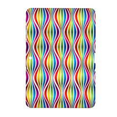 Rainbow Waves Samsung Galaxy Tab 2 (10.1 ) P5100 Hardshell Case