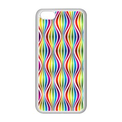 Rainbow Waves Apple Iphone 5c Seamless Case (white)