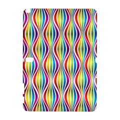 Rainbow Waves Samsung Galaxy Note 10.1 (P600) Hardshell Case