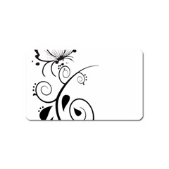 Floral Butterfly Design Magnet (Name Card)