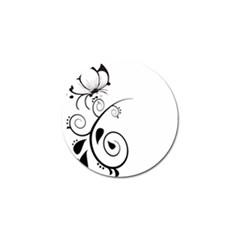 Floral Butterfly Design Golf Ball Marker