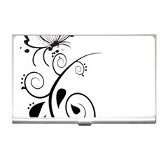 Floral Butterfly Design Business Card Holder