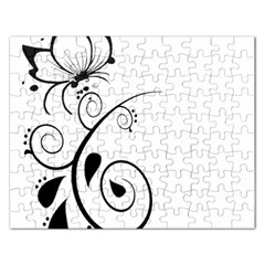 Floral Butterfly Design Jigsaw Puzzle (rectangle)