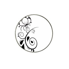Floral Butterfly Design Golf Ball Marker 4 Pack (for Hat Clip)