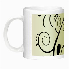 Floral Butterfly Design Glow In The Dark Mug