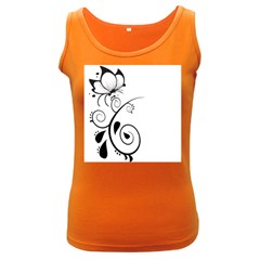 Floral Butterfly Design Women s Tank Top (dark Colored)