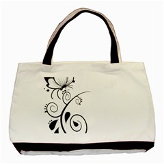 Floral Butterfly Design Classic Tote Bag