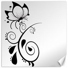 Floral Butterfly Design Canvas 20  X 20  (unframed)