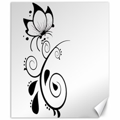 Floral Butterfly Design Canvas 20  x 24  (Unframed)
