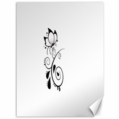 Floral Butterfly Design Canvas 36  X 48  (unframed)