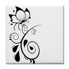 Floral Butterfly Design Face Towel