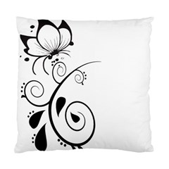 Floral Butterfly Design Cushion Case (Single Sided)