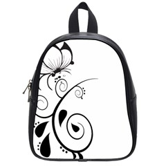 Floral Butterfly Design School Bag (Small)