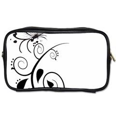 Floral Butterfly Design Travel Toiletry Bag (Two Sides)