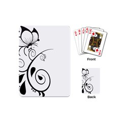 Floral Butterfly Design Playing Cards (mini)