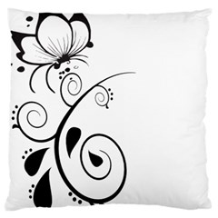 Floral Butterfly Design Large Cushion Case (single Sided)