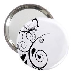 Floral Butterfly Design 3  Handbag Mirror