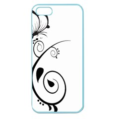 Floral Butterfly Design Apple Seamless Iphone 5 Case (color)