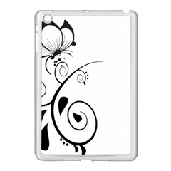 Floral Butterfly Design Apple iPad Mini Case (White)