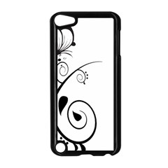 Floral Butterfly Design Apple Ipod Touch 5 Case (black)