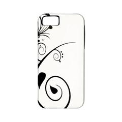 Floral Butterfly Design Apple Iphone 5 Classic Hardshell Case (pc+silicone)