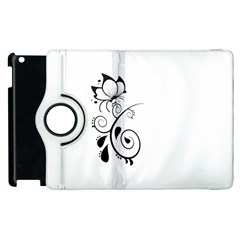 Floral Butterfly Design Apple iPad 2 Flip 360 Case