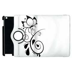 Floral Butterfly Design Apple iPad 3/4 Flip 360 Case