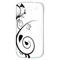 Floral Butterfly Design Samsung Galaxy S3 S Iii Classic Hardshell Back Case