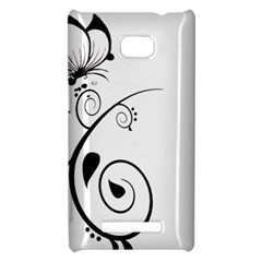 Floral Butterfly Design HTC 8X Hardshell Case