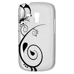 Floral Butterfly Design Samsung Galaxy S3 Mini I8190 Hardshell Case