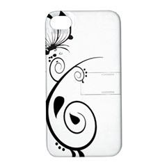 Floral Butterfly Design Apple iPhone 4/4S Hardshell Case with Stand